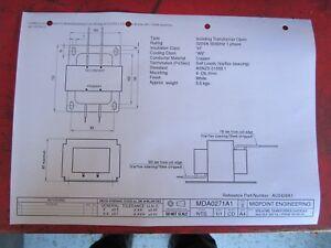 Isolating Transformer Open 240/24v 380VA 1 phase 50/60 Hz
