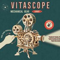 ROKR Vitascope 3D Puzzle Projecteur de Film en Bois Modèle Cadeau Jouet Adultes