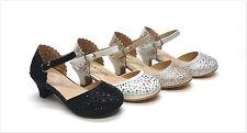 Brand New Girl's Laser Cut Rhinestone Heel Dress Shoes Size 9 - 4
