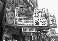 Sexy Adult Burlesque Theater PHOTO Times Square New York Live XXX Girls Movies