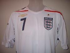 England  BNWT BECKHAM 7 Football Soccer Shirt Jersey NEW Adult XXL Man Utd PSG