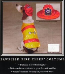 XSM PAWFIELD FIRE CHIEF Dog Halloween Costume FIREMAN Yorkie Poodle Shih tzu