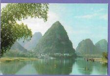GREEN LOTUS PEAK YANGSHUO CHINA ORIGINAL VINTAGE OLD POSTCARD GP