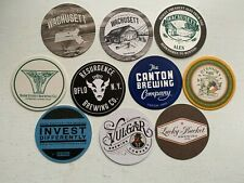 10 CRAFT BEER COASTERS-VULGAR,RESURGENCE,CANTON,BANK STREET,LUCKY BUCKET,BREWDOG