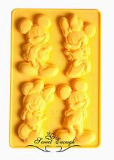 MICKEY MINNIE MOUSE DISNEY stampo in silicone Sugarcraft CIOCCOLATO COPPA Torta Stampo