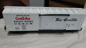 K-LINE K511-008 D&RGW COOKIE BOX RIO GRANDE BOX CAR, Estate Lot # 361