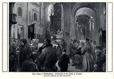 Felix Schwormstädt Gottesdienst in der Kirche zu Grajewo Russisch- Polen v.1915