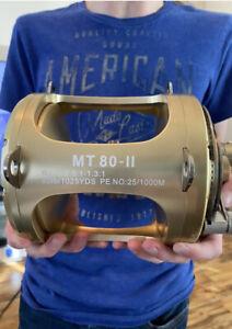 Two Speed Trolling Reel 80W Max Drag 45kg Deep Sea Fishing Tuna Marlin