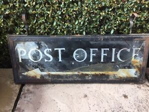 Old Collectible Vintage Salvaged Post Office Sign