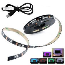 2M LED Strip Lights 5V TV Backlight 5050 SMD RGB Color with 3-Key Remote Control