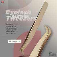 Eyelash Extension Tweezers for 3D 9D Volume Lashes False Lash Applicator Gold
