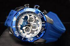 Invicta Men's 50mm Pro Diver Black Case Blue Silicone Strap Chronograph Watch