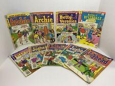 Lot x 9 Mixed Vintage Archie Comics