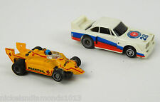 Vintage Lot (2)  Slot Cars Pennzoil 1977 Ideal TCR MK2 / Aurora BMW 320i #28