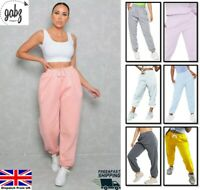 Ladies Women Jogging Trousers Joggers Fleece Casual Cuffed Tracksuit Bottom 6-14