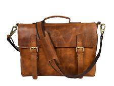 Hunter Leder Laptop Aktentasche Umhängetasche Businesstasche Messenger Bag