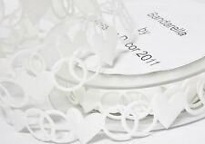 Band Herz ringe WEISS 9m Hochzeitsdeko Schleifenband Dekoband