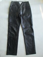 HUGO BUSCATI BLACK SOFT LEATHER LINED PANTS SIZE 6