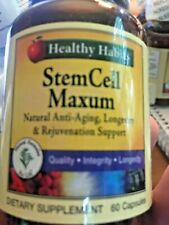 Healthy Habits Stem Cell Maxum Natural Anti-Aging Longevity Rejuvenation Support