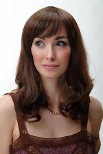 Wig Me Up Perruque pour Femme Mittelang Ondulés Affiler Frange Marron YZF-4382-8