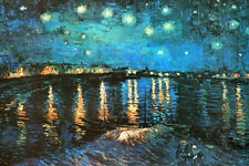 Vincent van Gogh Starry Night Over the Rhone 1888 Painting Art Poster 36x24