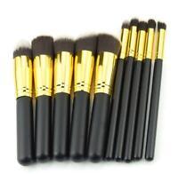 10Pcs Makeup Cosmetic Blush Brush Foundation Eyebrow Powder Brushes Kit Set