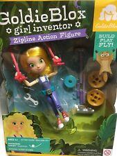 C2 GOLDIE BLOX Girl Inventor Zipline Action Figure & Building Toy