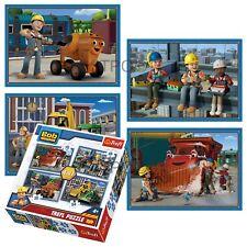 Trefl 4 In 1 35 + 48 + 54 + 70 Piece Boys Kid Bob the Builder Jigsaw Puzzle NEW