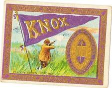 1910 Knox College Murad Cigarettes Tobacco Card Galesburg, Illinois
