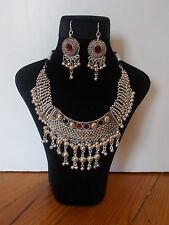 Parure, Collier Tribal et Boucles d'oreille ,  Artisanat Inde,  Kutch Gujarat 21