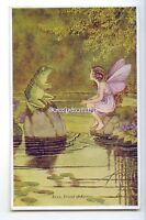 ch0389 - Elves & Fairies, Kexy, Friend of Fairies.Artist - I.Outhwaite- postcard
