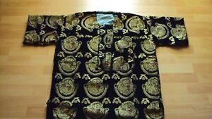 "Nigerian Igbo Traditional Groom Men's ""Isi Agu"" Loose Shirt / Top - Black Medium"