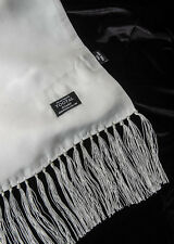 Authentic Tootal Vintage Silk Mod Scarf Plain White **Brand New**