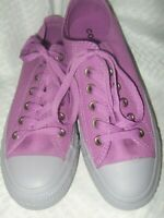 New Women's Size 8 Converse All Star Purple & Gray Low Top Lace Up Shoes