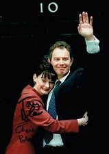 Tony and Cherie Blair Hand Signed Autograph Photo British Prime Minister  Labour