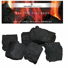 20 replacement cast coals for gas fires coal ceramic live flame glow- LARGE SIZE