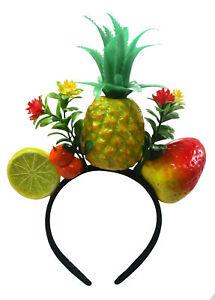 Womens Fun Tropical Fruit Pineapple Luau Headband Costume Accessory