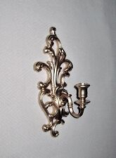 Vintage Wall Candle Sconce Gold Syroco #603 Hollywood Regency scroll 13 1/2""