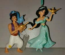 Disney Aladdin Jasmine Genie Christmas Ornaments Set Of 2