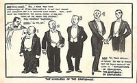 Antique print.Genuine.1930.Low cartoon.Kindness.Cartoonist.Menswear.Tailoring