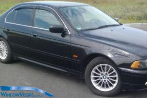 Window Visors WeatherShields 4pcs weather shields for BMW 5 Series 1995-2003 E39