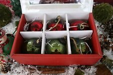 POTTERY BARN MERCURY GLASS BALL ORNAMENTS RED & GREEN BEAUTIES! BUY MORE SAVE!
