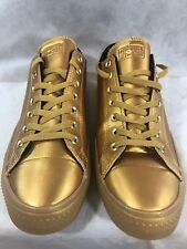 All Metalic Gold Converse Chuck Taylor Shoes Mens 12 Womens 14 NEAR MINT! Rare!