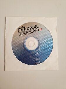 Roxio Creator MyDVD Combo LE Disc Installer Brand New Sealed.