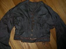victorian brown taffetta bodice with rust trim .selling for pattern or design