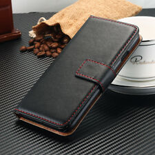 Genuine Real Leather Wallet Flip Case Cover F Apple Iphone 7 6 8 plus 6s 5 5s SE
