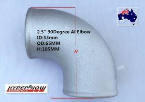 "2.5"" Cast Aluminum Elbow Pipe 90 Degree Intercooler Turbo Tight Bend Turbo AU"