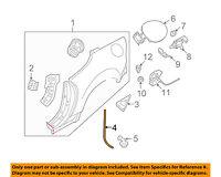 MAZDA OEM 06-15 MX-5 Miata Quarter Panel-Drain Hose 9935714999
