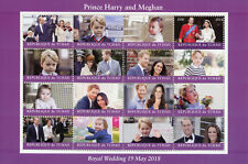 Chad 2018 CTO Prince Harry & Meghan Royal Wedding 16v M/S II Royalty Stamps