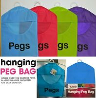 NEW Peg Bag Clothes Pegbag Hanging Washing Storage Laundry Line - Blue Colour